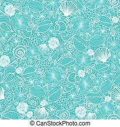 Las conchas azules forman una línea de arte sin marcas