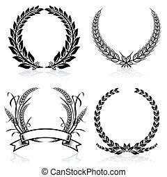 Las coronas de laurel