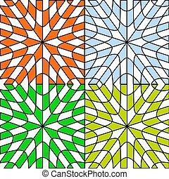 Las cuatro estaciones, patrones abstractos