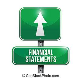 Las declaraciones financieras indican ilustraciones