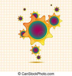 Las estrellas hacen burbujas para tu diseño