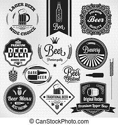 Las etiquetas de cerveza antiguas