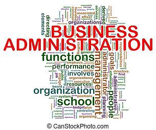 Las etiquetas de la administración de negocios