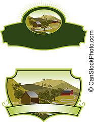 Las etiquetas de la granja americana