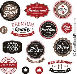 Las etiquetas de los restaurantes