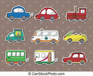 Las etiquetas del auto