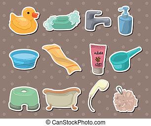 Las etiquetas del baño