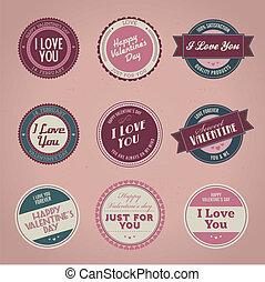 Las etiquetas del día de San Valentín