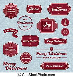 Las etiquetas navideñas