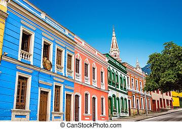 Las fachadas coloridas
