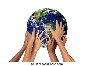 Las futuras generaciones con la tierra en sus manos