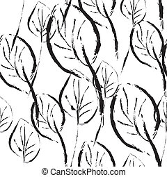 Las hojas blancas y negras dejan un patrón gráfico