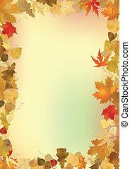 Las hojas de la caída forman parte del pasado.