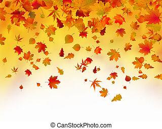 Las hojas de otoño fallidas de fondo