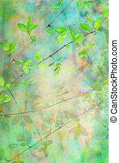 Las hojas naturales grunge son hermosas y artísticas