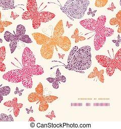 Las mariposas florales de la esquina decoran el pasado