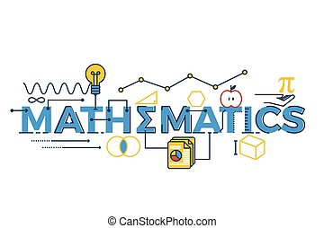 Las matemáticas ilustran la palabra