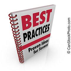 Las mejores prácticas de libro ideas para el éxito
