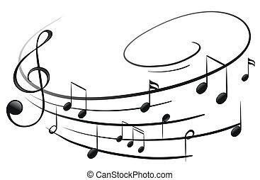 Las notas musicales con el G-clef