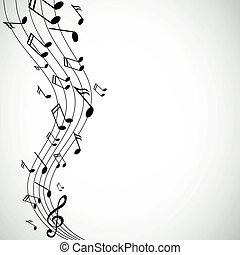Las notas musicales del vector