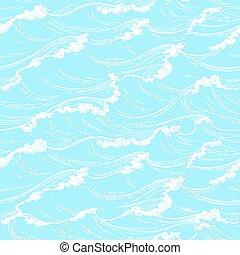 Las olas del mar no tienen marcas.