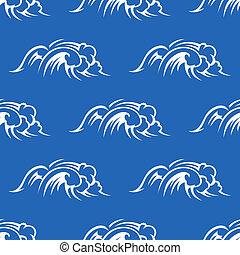 Las olas del océano no tienen marcas