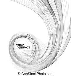 Las ondas abstractas del vector
