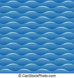 Las ondas de agua azul no tienen textura vectorial ni patrón