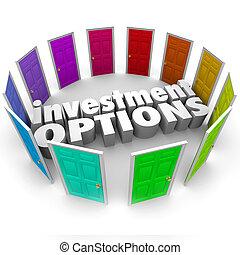 Las opciones de inversión abren muchos caminos eligiendo el mejor plan de ahorro
