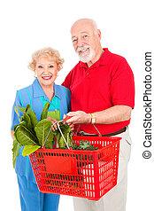 Las parejas mayores compran saludables