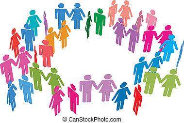 Las parejas solteras se encuentran con redes sociales