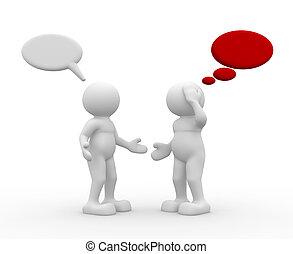 las personas hablar, dos