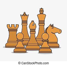 Las piezas de ajedrez de recursos humanos están aisladas