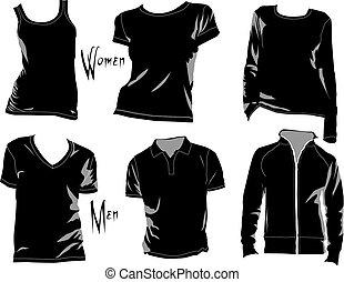 Las plantillas de camiseta