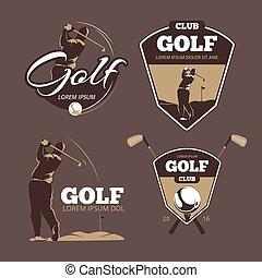 Las plantillas del logo del club de golf