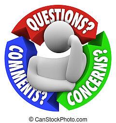 Las preguntas se refieren al diagrama de apoyo al cliente