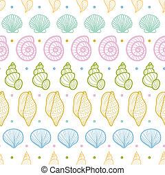 Las rayas de las conchas marinas forman un diseño sin fondo