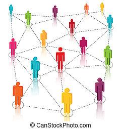 Las redes sociales, la red