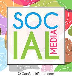 Las redes sociales son coloridas al azar