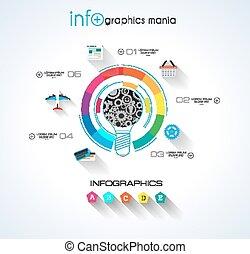 Las redes sociales y el concepto de la nube infográfico