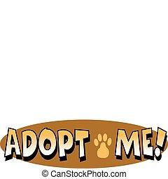 Las señales de adopción de perros de mascota