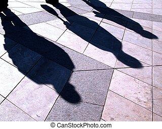 Las sombras de la gente
