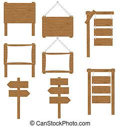 Las tablas de madera indican vector