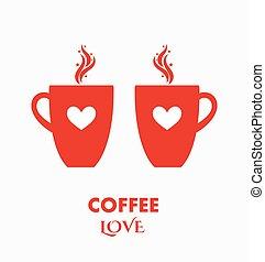 Las tazas de café adoran