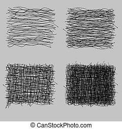 Las texturas de dibujo ásperas de Grunge. Ilustración de vectores