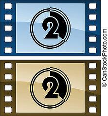 Las tiras de cine Vector