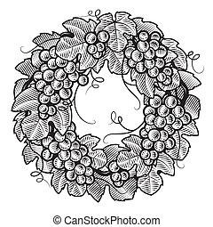 Las uvas retrógradas son blancas y negras