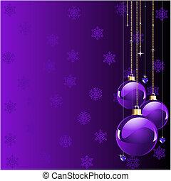 Las violetas colorean la Navidad