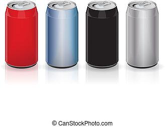 Latas de alcohol de aluminio