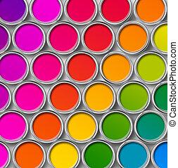 Latas de pintura color pueden ver mejor